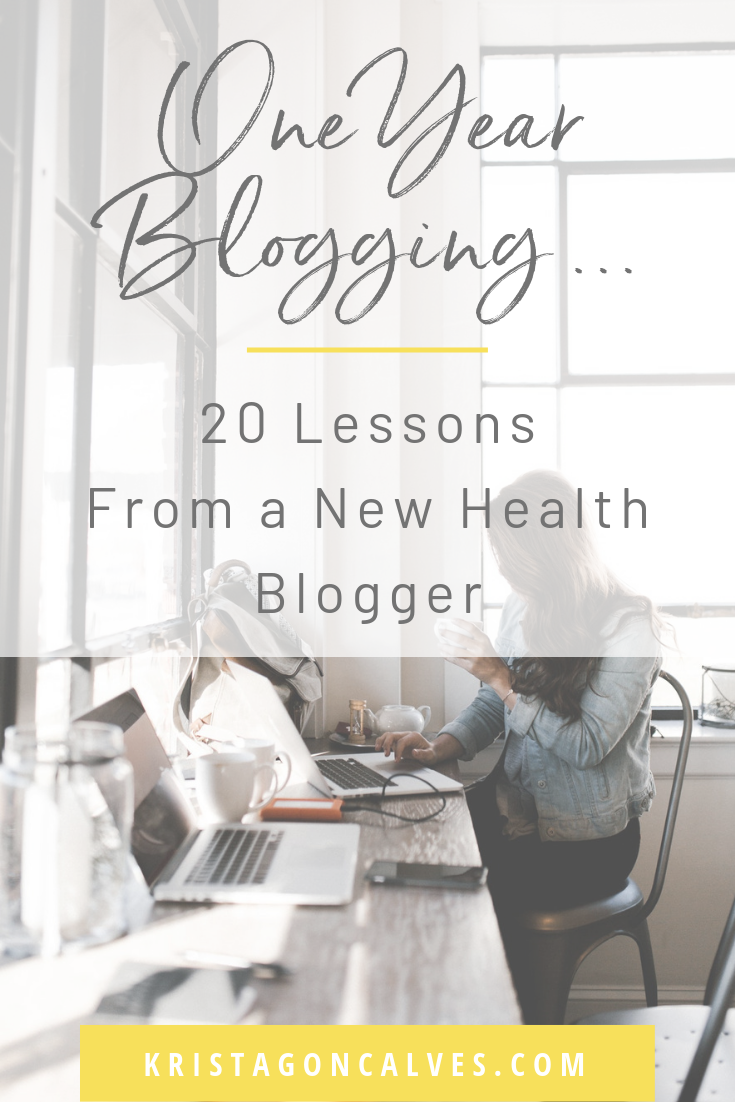 20 Lessons Learned from One Year of Health Blogging