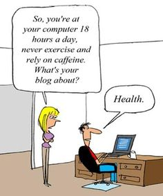health blogger joke
