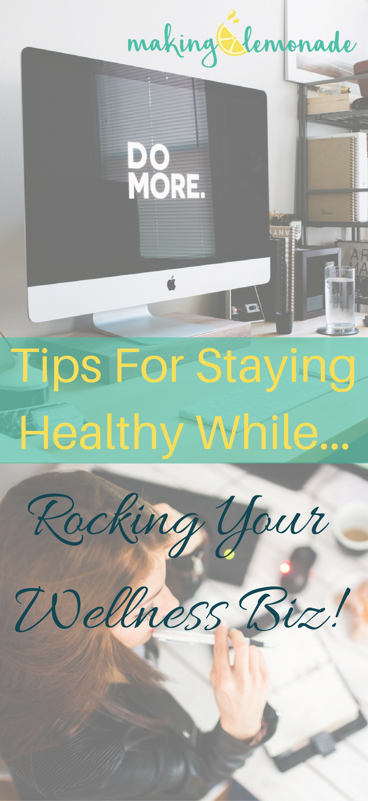 stay healthy while running an online health and wellness business
