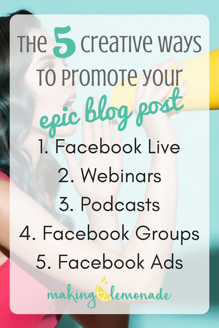 5 creative ways to promote your blog post