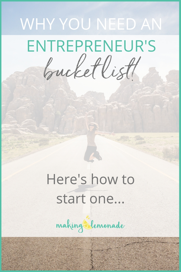 Why you need a wellness entrepreneur's bucket list - how to start one | Making Lemonade with Krista Goncalves