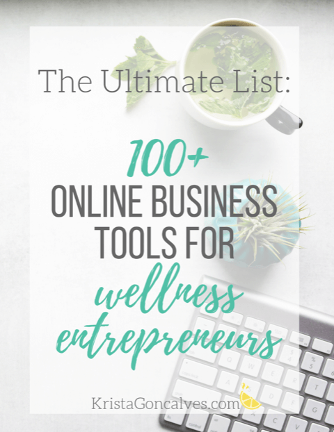 100 online business tools for wellness entrepreneurs