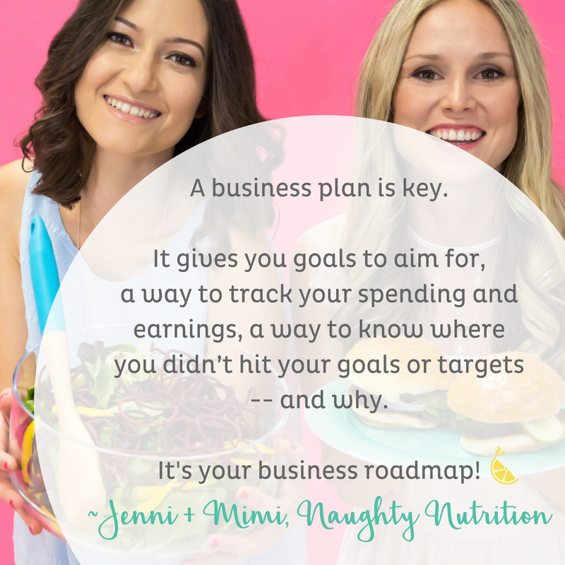 A business plan is key. It gives you goals to aim for, a way to track your spending and earnings, a way to know where you didn't hit your goals or targets and why. It's your business roadmap! Naughty Nutrition