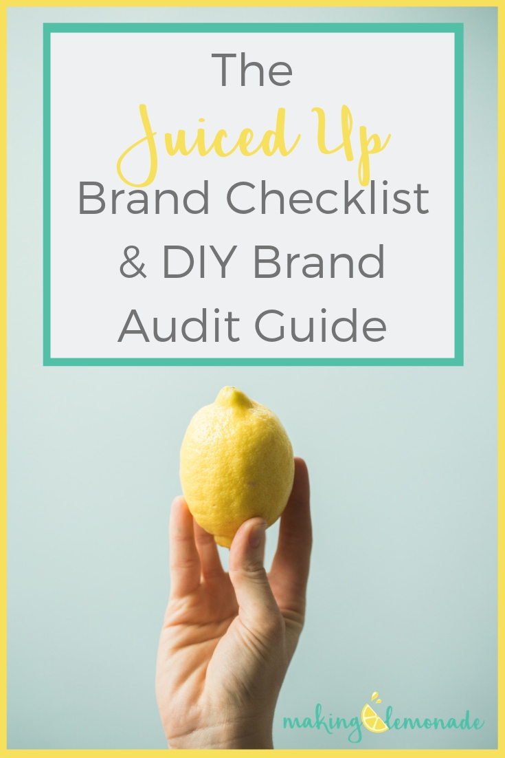 Juiced Up Brand Checklist & DIY Brand Audit