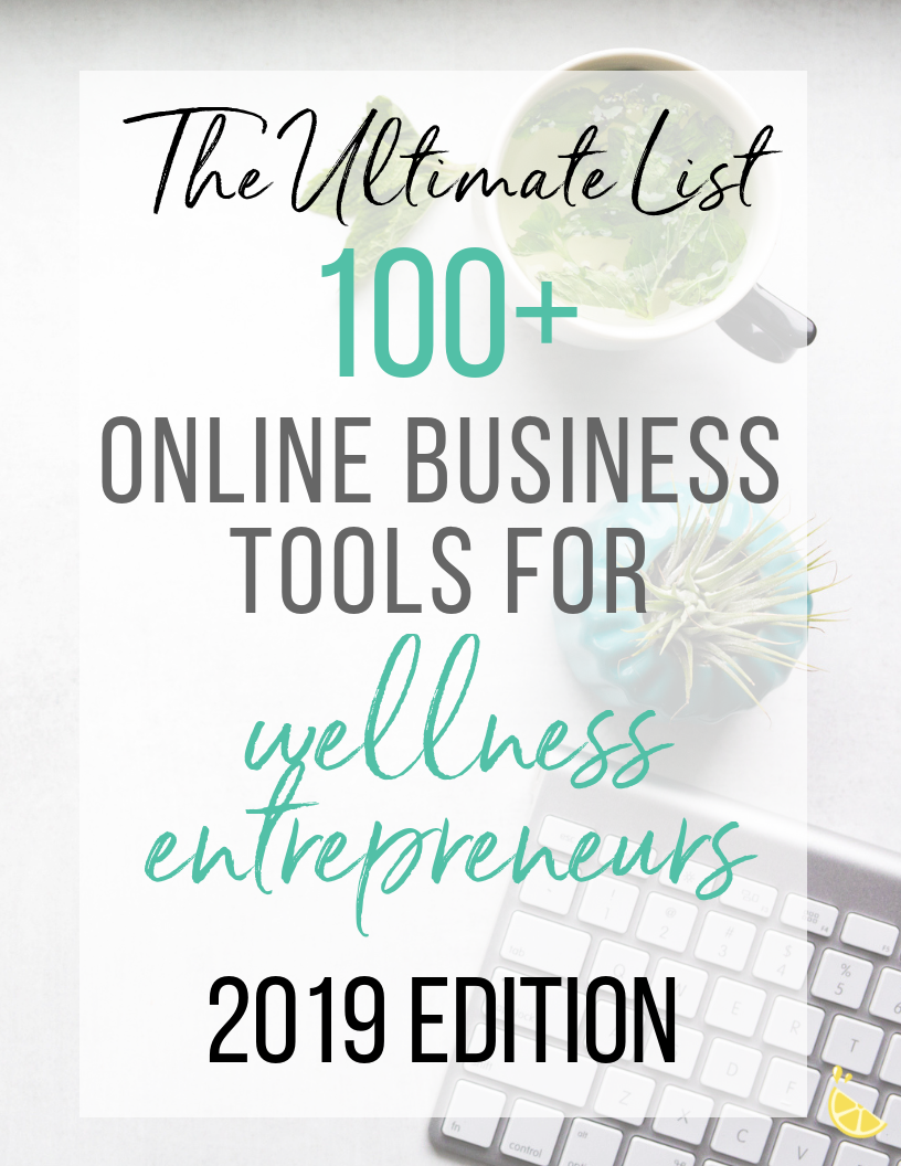 100+ online business tools for health & wellness entrepreneurs